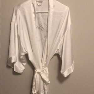 Bridal robe. White with jeweled details